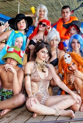 Various Cosplayers' League Of Legends Pool Party 2015