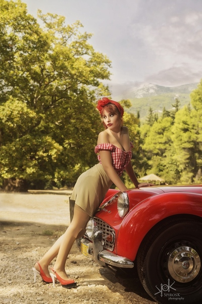 Vintage Car Pinup with M. Stathopoulou